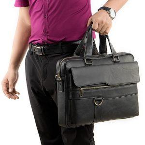 Túi xách nam công sở văn phòng màu đen đẹp PL027