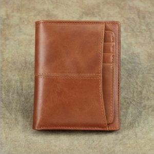 Bóp, Ví Da Nam Da Bò Kiểu Gấp VD005 Giá Rẻ